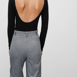 Aritzia Wilfred Free High Rise Angell Pant in Grey